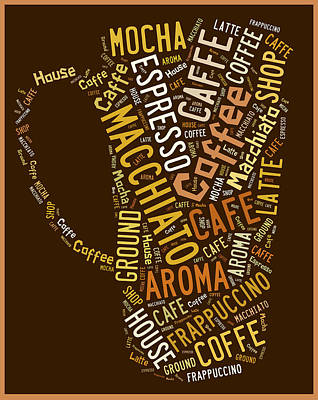 Coffee Menu Collection Poster by Marvin Blaine