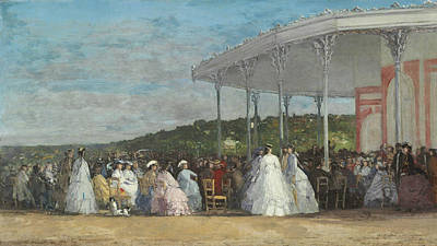 Concert At The Casino Of Deauville Poster by Eugene Boudin