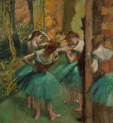 Dancers, Pink And Green Poster