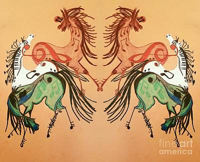 Dancing Musical Horses Poster by Scott D Van Osdol