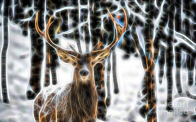 Deer Poster by Marvin Blaine