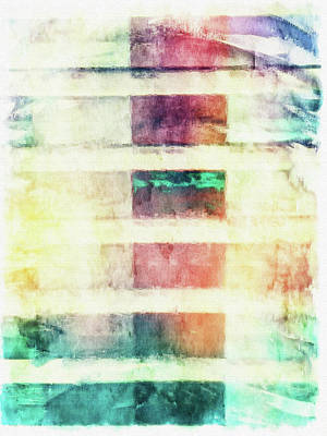 Digital Abstract Painting  Poster by Tom Gowanlock