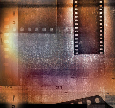 Film Strips Poster by Les Cunliffe