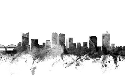 Fort Worth Texas Skyline Poster by Michael Tompsett