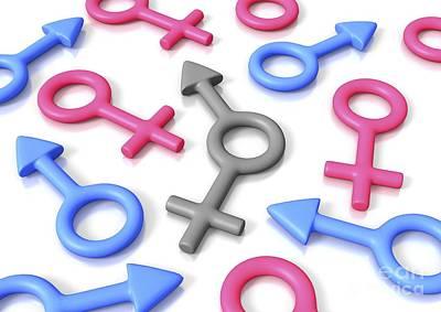 Gender Identity, Conceptual Artwork Poster by David Mack