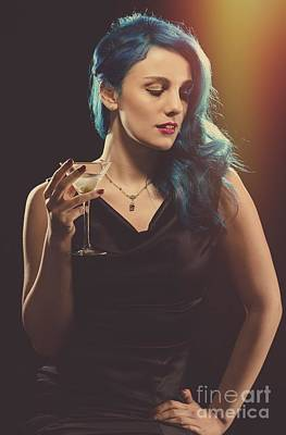 Glamorous Hollywood Style Woman Poster by Amanda Elwell
