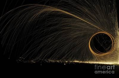 Glowing Spark Spiral Poster by PhotoStock-Israel