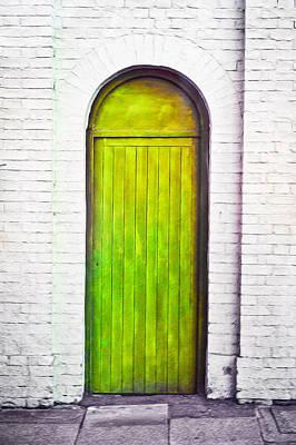 Green Door Poster by Tom Gowanlock