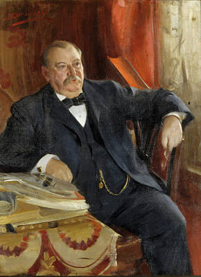 Grover Cleveland Poster by Anders Zorn