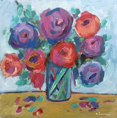 Impressionist Roses Poster by Venus