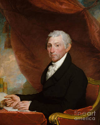 James Monroe Poster by Gilbert Stuart