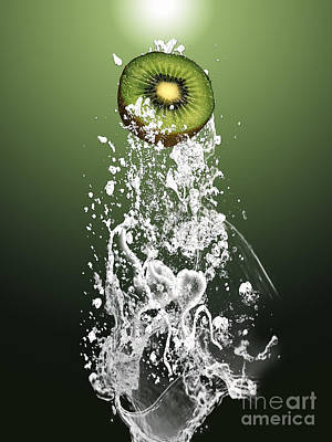Kiwi Splash Poster by Marvin Blaine