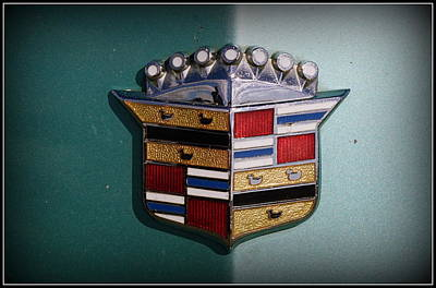 Vintage Cadillac Emblem Poster by Laurie Perry