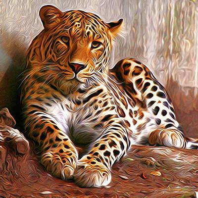 Leopard Poster by Anna J Davis