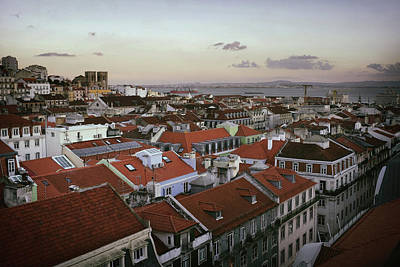 Lisbon Downtown Poster