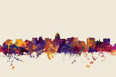 Madison Wisconsin Skyline Poster