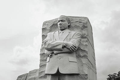 Martin Luther King Jr Statue Poster by Brandon Bourdages
