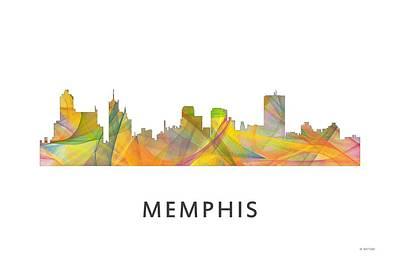 Memphis Tennessee Skyline Poster