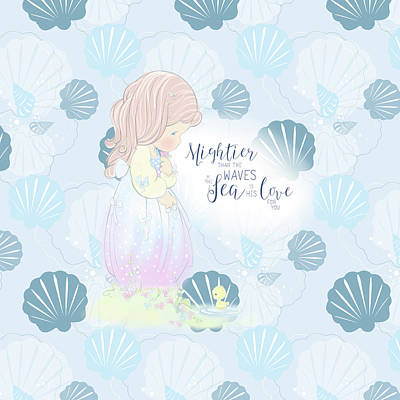 Mightier Than The Waves Poster by Precious Moments