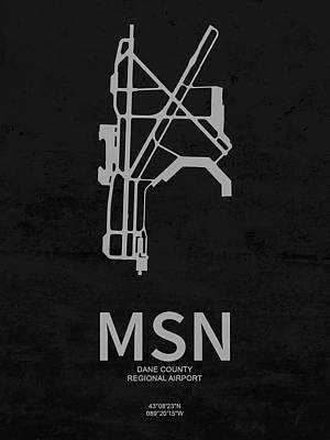 Msn Dane County Regional Airport In Madison Wisconsin Usa Runway Poster