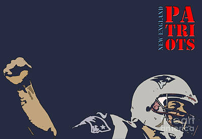 New England Patriots Original Typography Football Team Poster