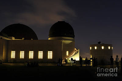 Night At Griffeth Observatory Poster