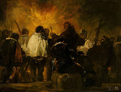 Night Scene From The Inquisition Poster by Francisco Goya