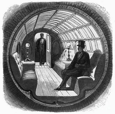Pneumatic Transit, 1870 Poster by Granger