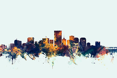 Richmond Virginia Skyline Poster