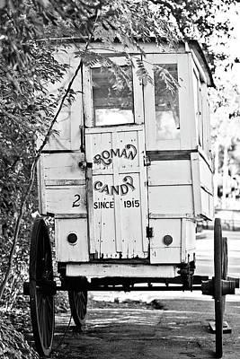 Roman Candy Cart - Bw Poster