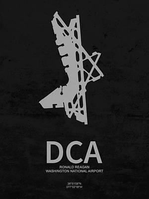 Dca Ronald Reagan Washington National Airport In Arlington County Us Poster