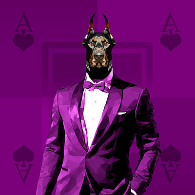 Royal Doberman Poster by Gallini Design
