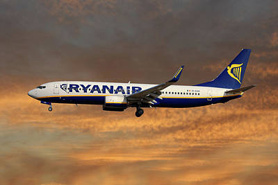 Ryanair Boeing 737-8as Poster