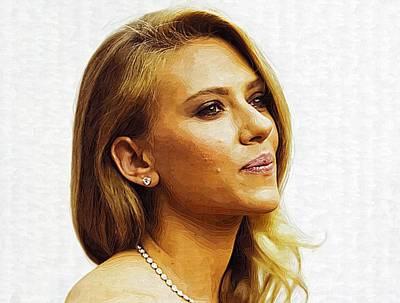 Scarlett Johansson Print Poster
