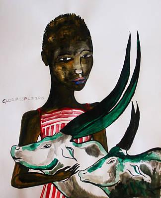 Shilluk Bride - South Sudan Poster