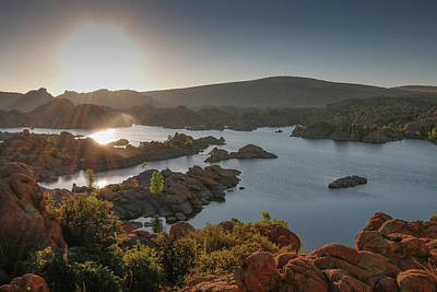 Sunrise At Watson Lake Poster by Teresa Wilson