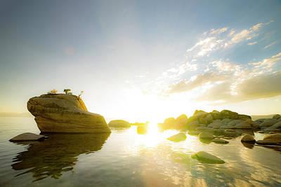 Sunset At Bonsai Rock Poster