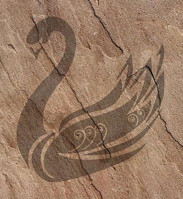 Swan Art Poster