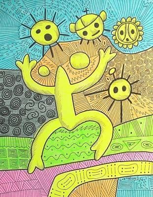 Taino Petroglyphs Poster