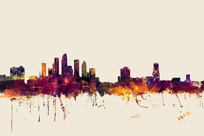 Tampa Florida Skyline Poster by Michael Tompsett