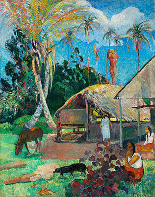 The Black Pigs Poster by Paul Gauguin