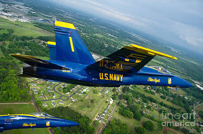 the Blue Angels Poster by Celestial Images