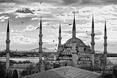 The Blue Mosque - Istanbul Poster by Luciano Mortula