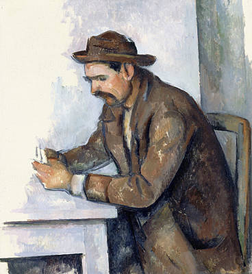 The Cardplayer  Poster by Paul Cezanne