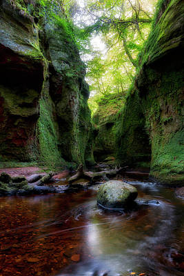 The Devil Pulpit At Finnich Glen Poster