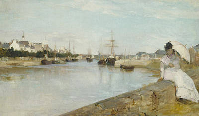 The Harbor At Lorient Poster by Berthe Morisot