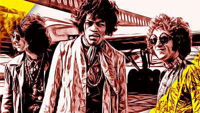The Jimi Hendrix Experience Collection Poster by Marvin Blaine