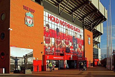 The Kop Entrance To Liverpool Foo Poster by Ken Biggs