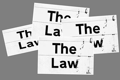 The Law Poster by Tom Gowanlock
