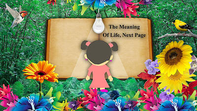 The Meaning Of Life Art Poster by Marvin Blaine
